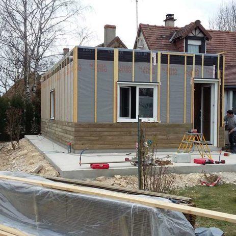 Fabrication de maison et extension ossature bois for Fabrication ossature bois maison